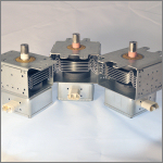 Magnetrons for microwave ovens