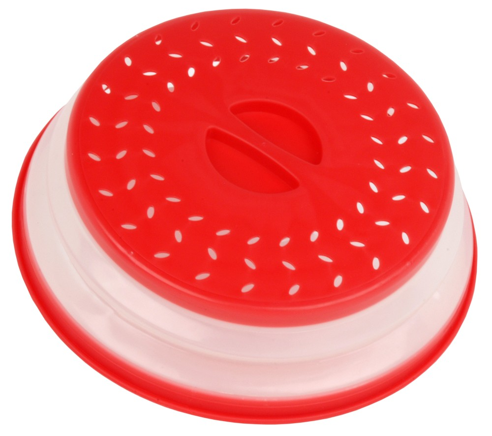 Collapsible microwave plate cover/colander/strainer [PFD.NS450]