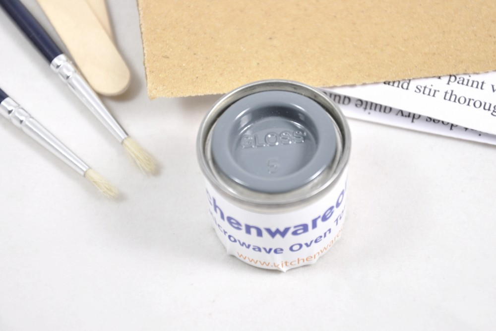 Enamel Paint Touch Up Kit For Grey Microwave Ovens