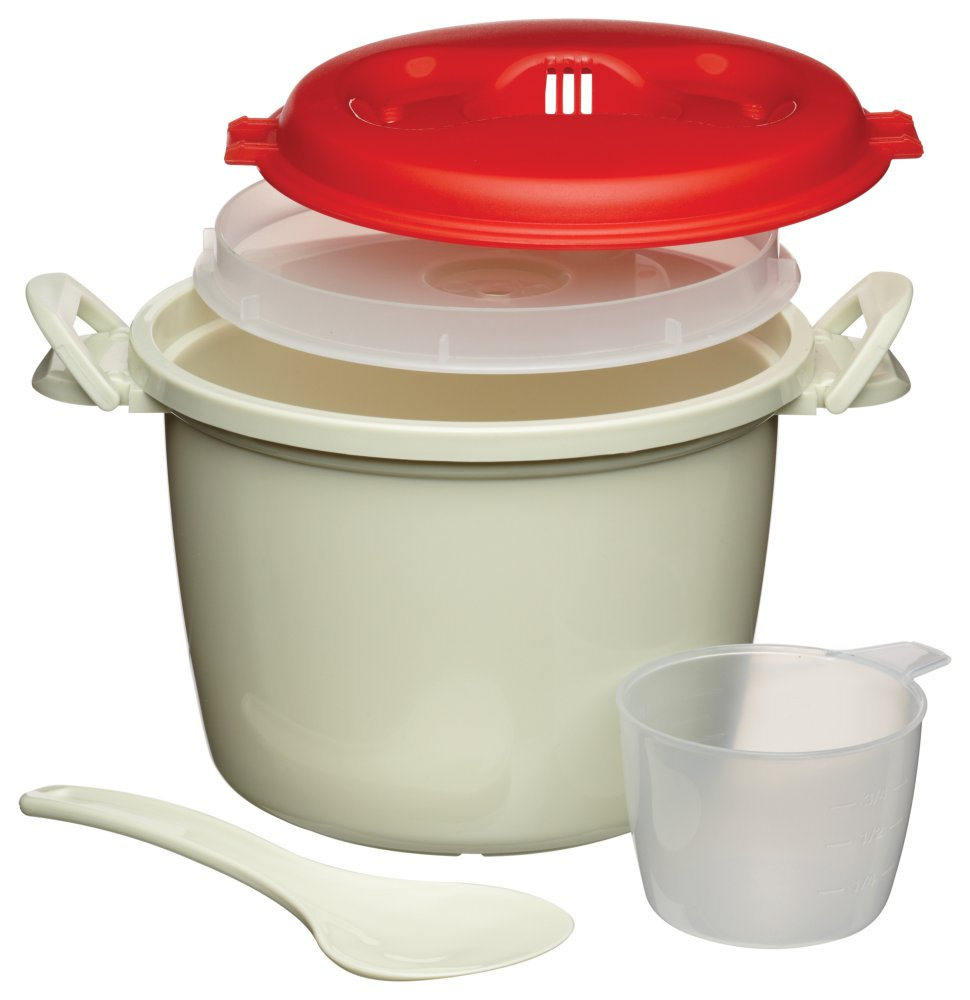 Rice Cooker For Use In Microwave Ovens Holds 1 5 Litres