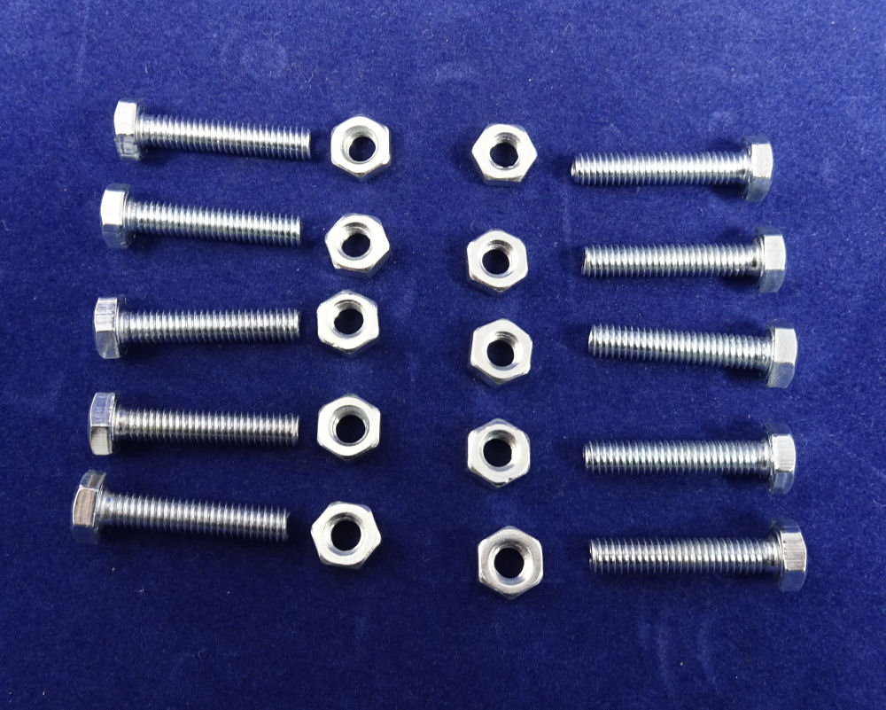 Replacement nuts and bolts for oven elements