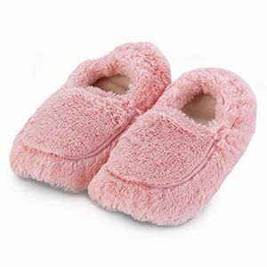 Furry warmers pink heatable slippers [TLX.PINK SLIPPERS]