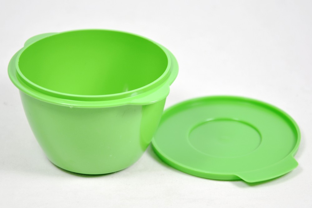 Green microwave mini pot with lid - 300ml [PFD.NS615G]