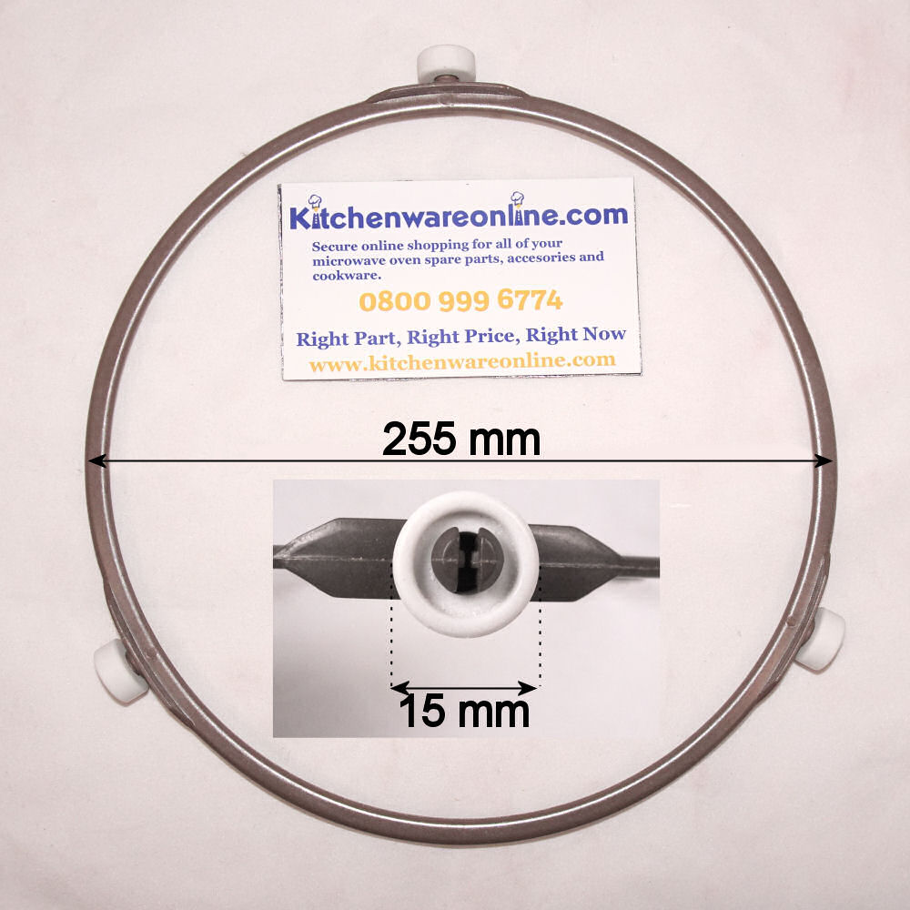 Plastic roller ring (255mm) for Panasonic microwave ovens