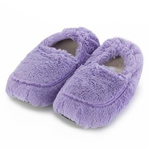 Furry warmers lilac heatable slippers [TLX.LILAC SLIPPERS]
