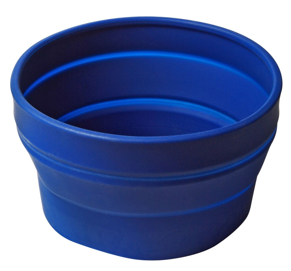 Collapsible silicone pet food bowl [WKP.PET-BOWL-BLUE]