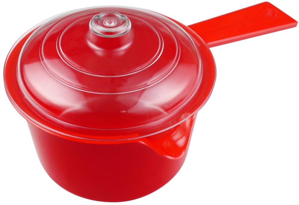 Red Microwaveable Saucepan And Lid 600ml Jwp 4040