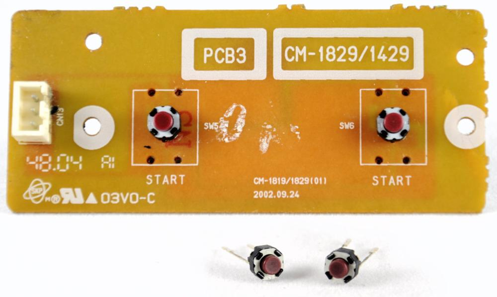 Pack of two Start button tact switches (PAN.COM.EVQ11L05R)