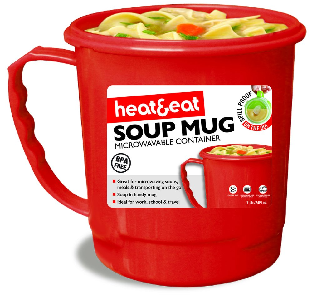 Ns460r 0 7 Litre Heat And Eat Soup Mug Colour Red