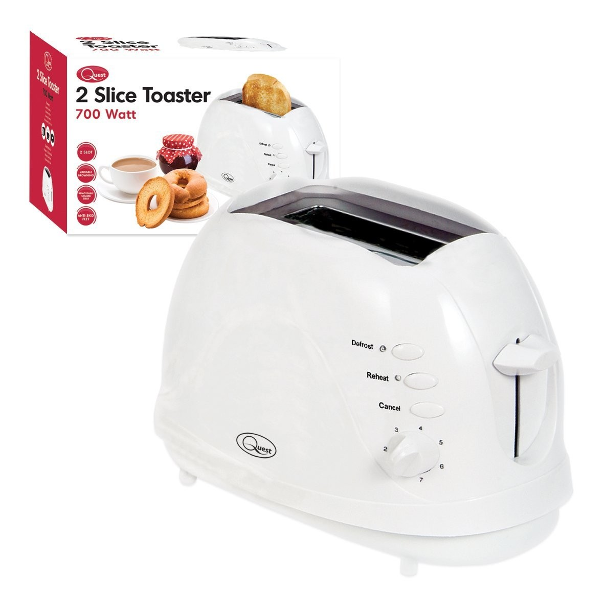 Low power 2 slice toaster [CON.BNR35040]