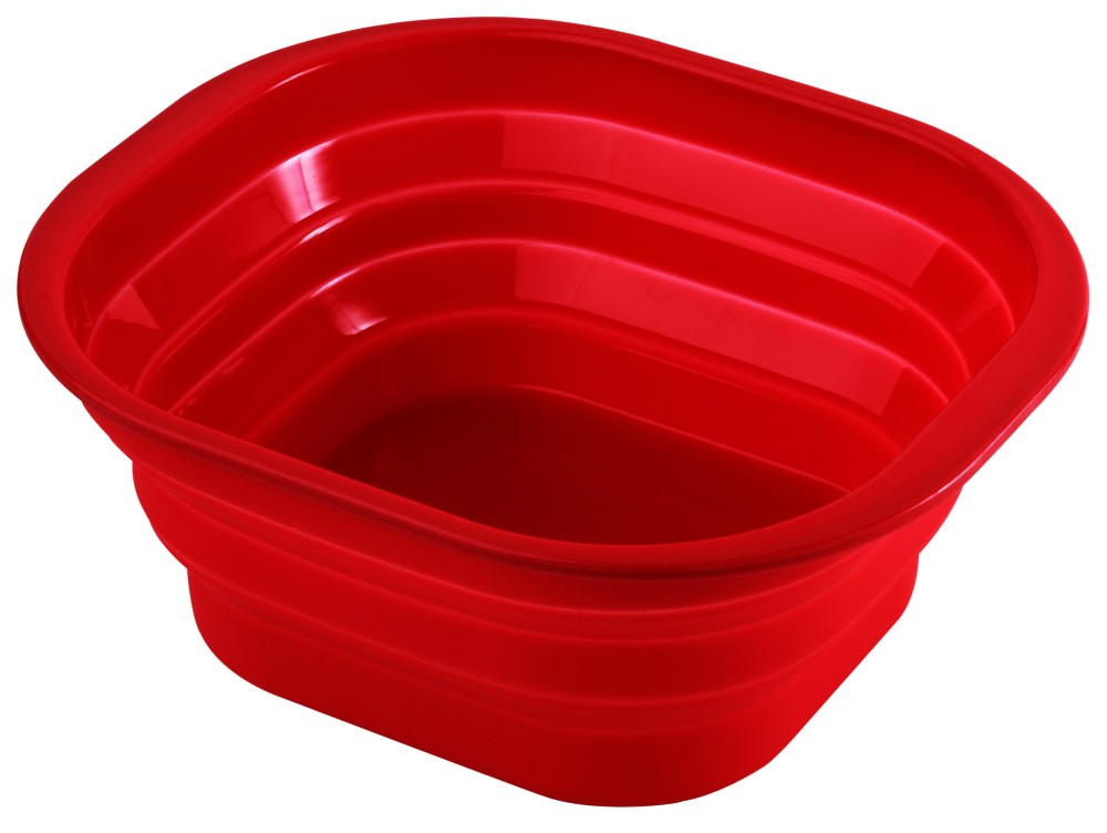 Collapsible 7.5 litre washing up bowl [WKP.WASHING-UP-BOWL-RED]